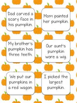Halloween Uh Oh Sentence Game