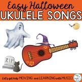 Halloween Ukulele Songs: Easy Songs, Dm and Em Chords, Mp3