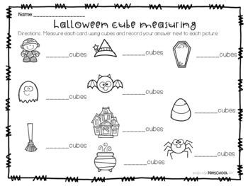 Halloween Cube Measuring