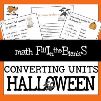 Unit Conversions - Halloween Math