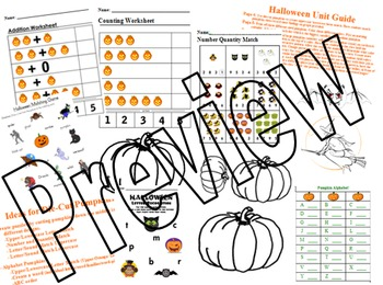 Halloween Unit Pumpkins Spiders Math Literacy