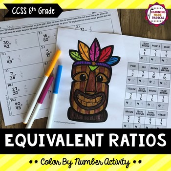 Equivalent Ratio (Larger to Reduced) Color By Number Activity