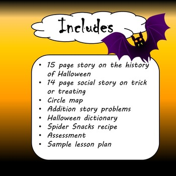 Halloween Unit for Special Education