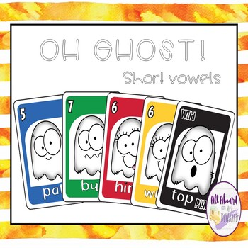 Halloween Uno Ghost: Short Vowels