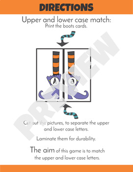 Halloween Upper and Lower Case Letter Match
