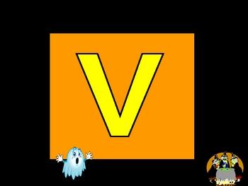 Halloween Uppercase Alphabet Letter Fluency PowerPoint