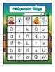 Halloween Uppercase & Lowercase Letter Bingo