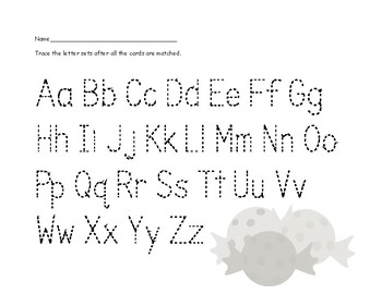 Halloween Uppercase/Lowercase Letter Match Cards