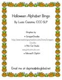 Halloween Uppercase and Lower Alphabet Bingo and Alphabet Cards