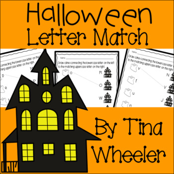 Halloween Uppercase and Lowercase Letter Match