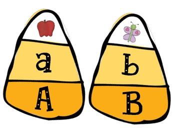 Halloween Uppercase/Lowercase Alphabet Match