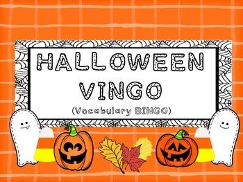 Halloween VINGO (Vocabulary BINGO)