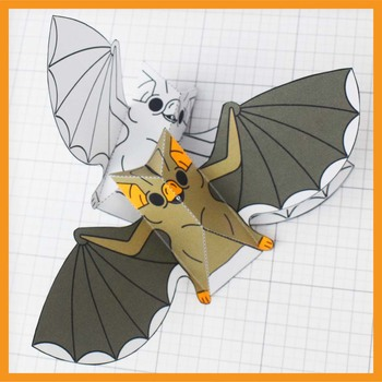 photo relating to Printable 3d Paper Crafts identify Halloween Vampire Bat Present Decoration Video game - 3D Paper Craft