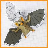 Halloween Vampire Bat Display Decoration Activity - 3D Pap
