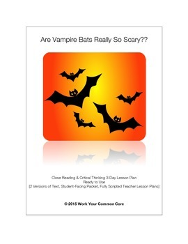 'Vampire Bats' LESSON RI 3.7 4.7 How Images Add to Nonfiction Text 3rd 4th