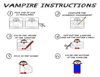 Halloween Vampire Foldable Craftivity - NO PREP! - All Subjects