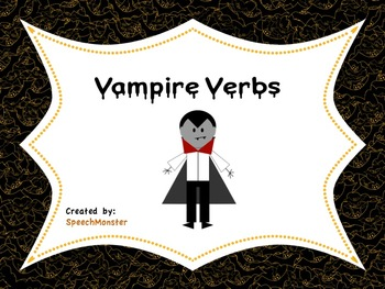 Halloween Vampire Irregular and Regular Verbs
