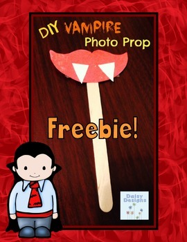 Halloween Vampire Photo Prop