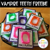 Halloween Vampire Teeth Free Printable