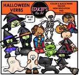 Halloween Verbs Clip Art Bundle {Educlips Clipart}