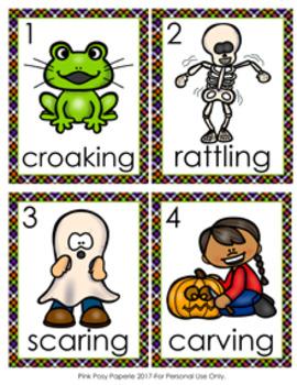 Halloween Verbs Write The Room Activity