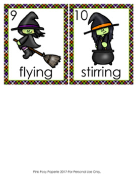 Halloween Verbs Write The Room Activity