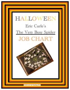 Halloween Very Busy Spider Job Chart