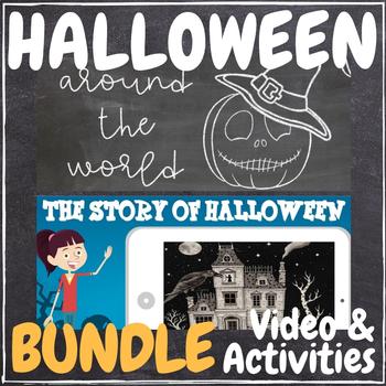 Halloween Video & Activities BUNDLE! History, Around the World, and Pumpkins!