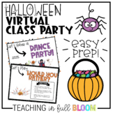 Halloween Virtual Class Party   Distance and Online Learning Celebration