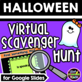 Halloween Virtual Scavenger Hunt for Distance Learning
