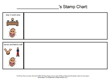 Classroom Rules, Weekly Behavior Sheet and Behavior Stamp Page