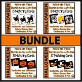 Halloween Visual Discrimination Activities Bundle
