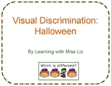 Halloween Visual Discrimination Task Cards