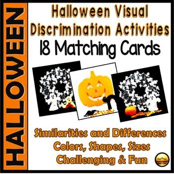 Halloween Visual Matching  Kindergarten and First Grade Activities Set Two