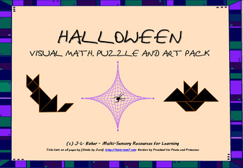 Halloween! Visual Math, Puzzle and Art Pack