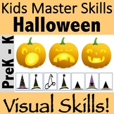 Halloween Visual Perceptual and Occupational Therapy Activities