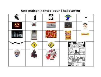 Halloween Visual Vocabulary List