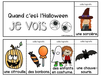 Halloween Vocab FRENCH booklet