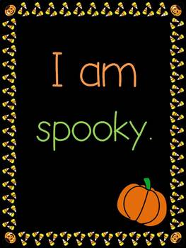 Halloween Vocab and Sentences.