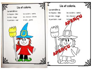 Halloween - Vocabulaire (Écriture, exercices, coloriage)