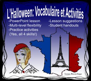 Halloween: Vocabulaire et Activités (VOCABULARY POWERPOINT)