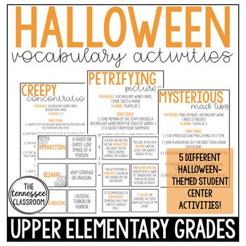 Halloween Vocabulary Activities: Upper Elementary