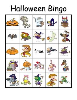 Halloween Vocabulary Bingo