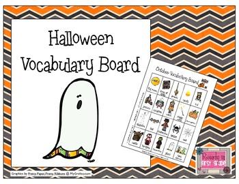 Halloween Vocabulary Board