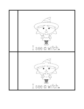 Halloween Vocabulary Book for Kindergarten and First Grade Tracing Book