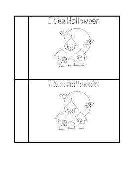 Halloween Vocabulary Book for Kindergarten and First Grade