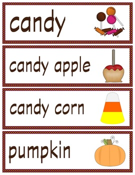 Halloween Vocabulary Cards
