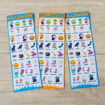 Halloween Vocabulary Cards