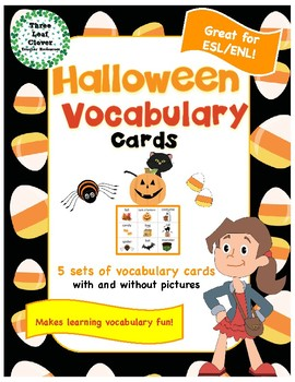 Halloween Vocabulary Cards - Great for ESL/ENL