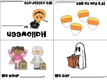 Halloween Vocabulary Cards and Mini Books BUNDLE